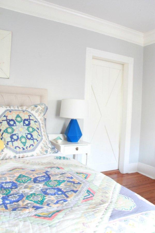 master bedroom with door