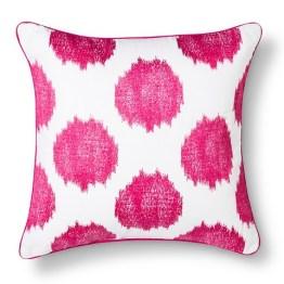 Threshold™ Ikat Dots Decorative Pillow - Rose AND NAVY