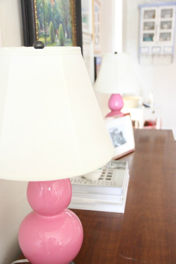 ROBERT ABBEY DOUBLE GOURD LAMPS IN PINK