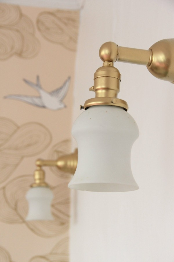 SPRAY PAINTED SCONCES