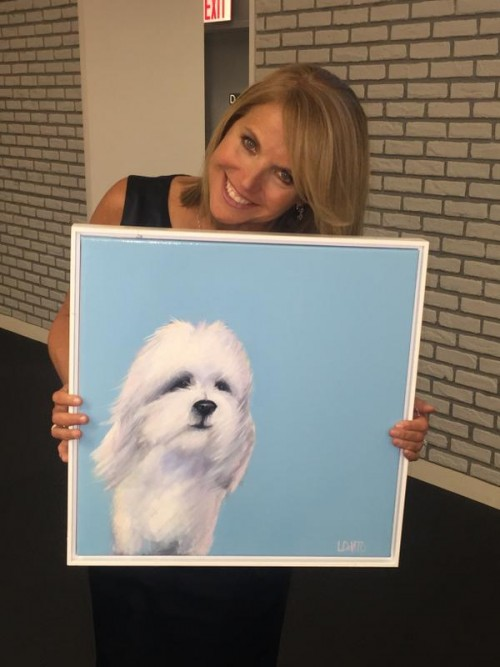 "KATIE COURIC AND HER PORTRAIT OF ""COOPER"" - TWITTER"