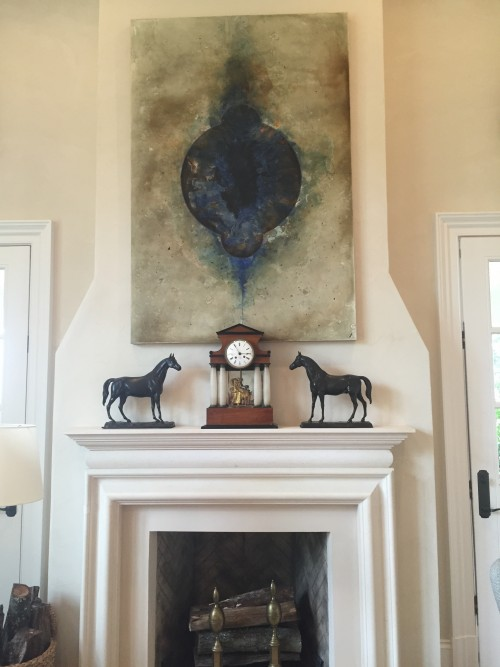 2015 SOUTHERN LIVING IDEA HOUSE, LIVING ROOM MANTLE