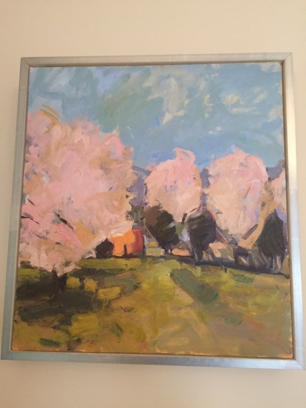 """""""PINK ON BLUE"""" Y ISABEL ABBOT - DID I MENTION THE ART IS SWOON WORTHY!!!"""