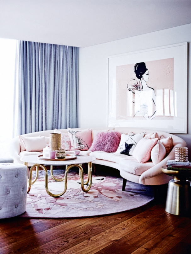 the decorista - Megan Hess's amazing living room