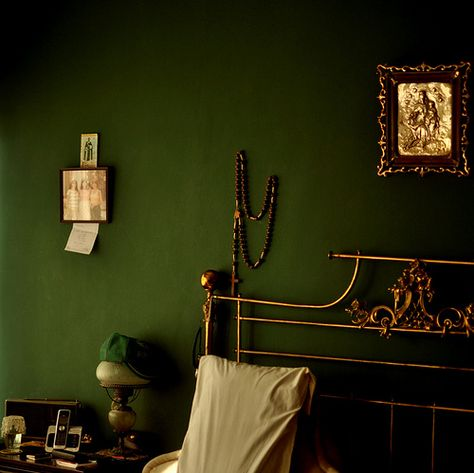 Color On Trend Deep Mossy Olive Green