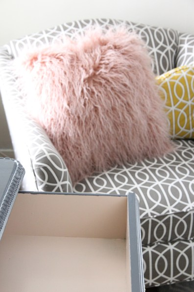 DRAWER INTERIOR PAINTED RALIEGH PEACH