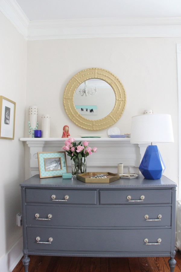DRESSER PAINTED ANCHOR GRAY