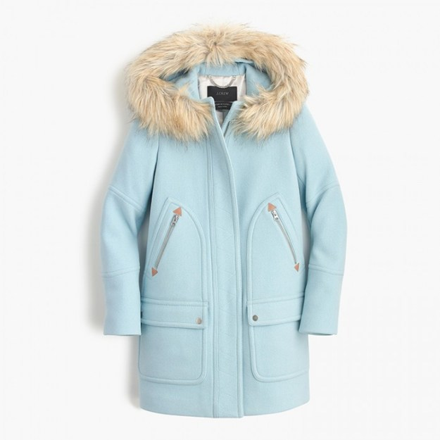 J Crew Chateau Parka in Vintage Sky