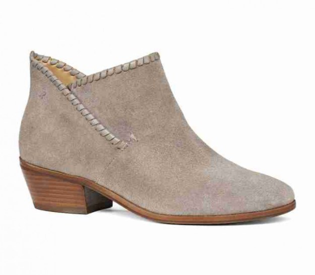 JACK ROGERS SADIE SUEDE BOOTIE - IN LIGHT GREY