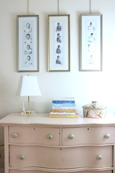 MY $25 YEARD SALE DRESSER HAS SERVED ME WELL. IT HAS BEEN 6 DIFFERENT COLORS! NOW IT IS BENJAMIN MOORE RALEIGH PEACH.