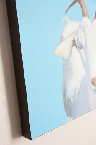 ...side view ....all of my paintings are painting on the sides and do not require a frame