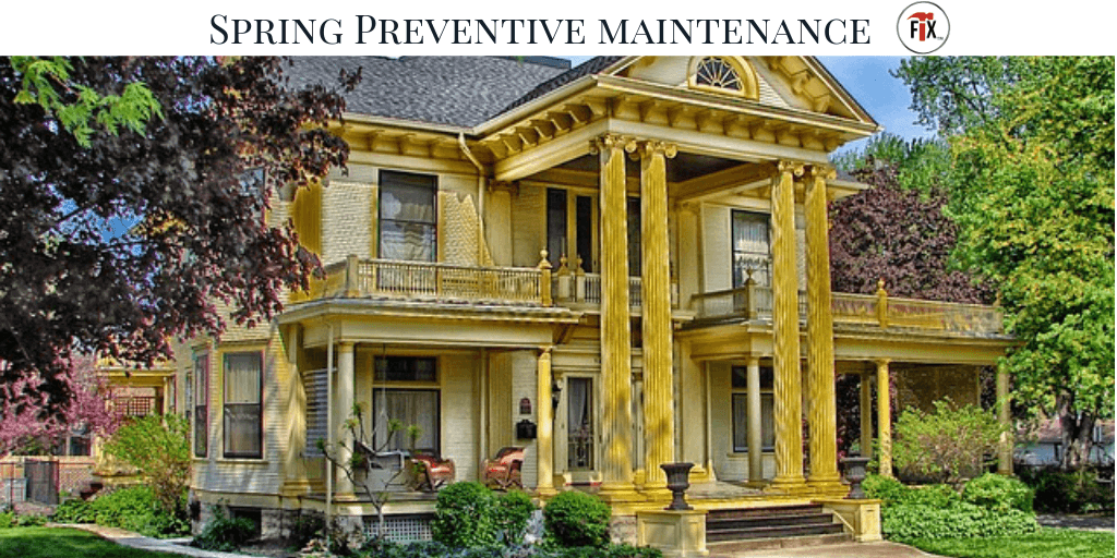 Spring Preventive Maintenance: Tips & Checklist via @myoldhousefix