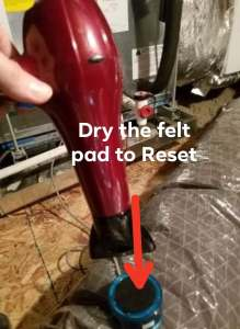 Air Conditioning Repair - Drying the Air Handler Wet Switch