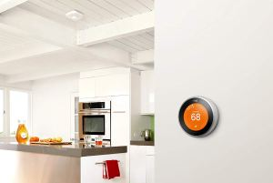 Air Conditioning Repair - Nest Thermostat on Wall