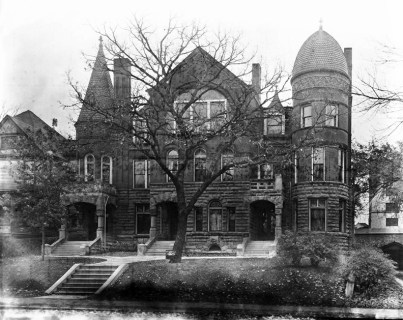 Historic photo of the Georgia Row House borrowed from the Landmark Group. Built in 1890 as a row house, we always thought it was a single-family mansion. Scariest basement ever. I think the basements and boiler rooms of Park Avenue have to be some of the eeriest in town.