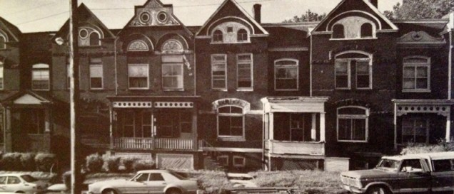 Historic photo of 2961-2969 Pacific Street, built in 1890. I have had this photo in my collection for a long time. I am sorry that I don't know who to credit for this one.