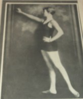 """Image borrowed from Abe Books online site. I found a 1928 Argentinean vintage magazine, El Grafico, featuring Corrine Condon, """"who broke the world's record by winning the national A.A.U. Junior 50 yard freestyle swim in 28 seconds at the age of 14."""" I include the photo even thought it's out of focus, just to be a completist freak. """"Attired in a one-piece swimsuit, the young swimmer poses with one hand on her hip as the other reaches out. Corrine Condon and her sister Helen were swimming champions of the Nicholas Senn hospital in Omaha. In March of 1925, the 14-year-old Corinne broke a world's record by winning the A.A.U. Junior 50 yard free style swim in 28 seconds."""""""