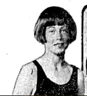 April 1924. OWH archive. At age 13, Miss Corinne was featured with the swimming nurses in final indoor tank meet of the swimming season.