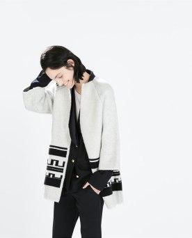 Ethnic jacquard short coat