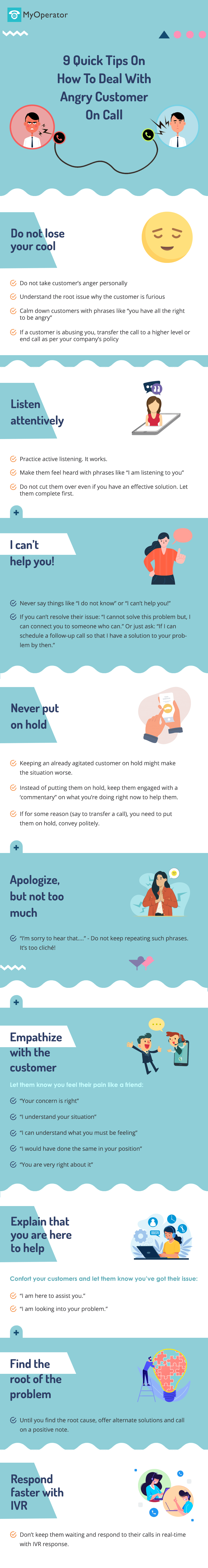 9 Quick Tips On How To Deal With Angry Customers On Call [Infographic]