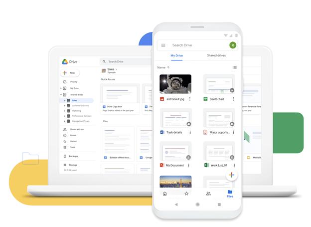 Google Drive, cloud storage service.