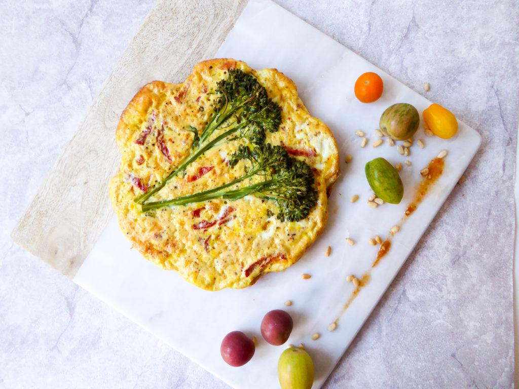 Baby brocoli crustless pie