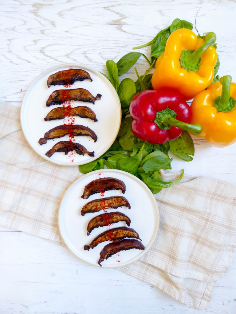 Vegan Portobello Bacon - great meatless alternative to enjoy like a BLT!