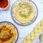 Homemade hummus - Classic Israeli dish and great vegan high in protein alternative
