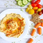 Squash hummus dip - Vegan and gluten-free loaded in protein fall dip