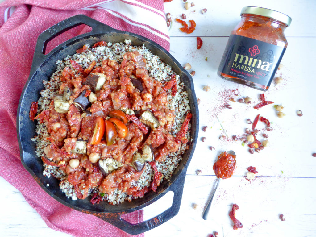 Spicy Eggplant Chili - one pot comforting vegan and gluten free dish loaded in protein