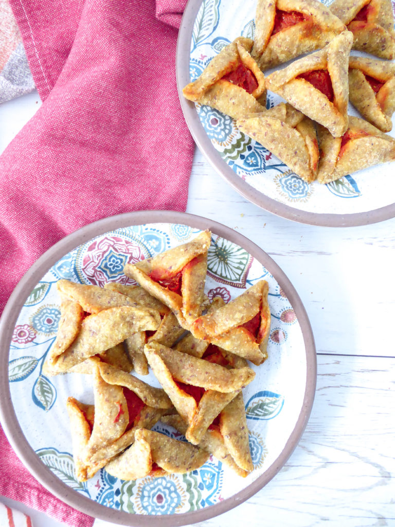 ISRAELI STYLE SAVORY HAMANTASCHEN - Favorite Purim holiday treat but in savory!