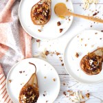 Baked Pears - easy fruit dessert or snack to impress your guests