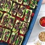 Zucchini boats with quinoa - easy plant-based recipe ideal when hosting or for family dinner