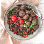 BLACK AND RED QUINOA BOWL | Vegan | Gluten-Free