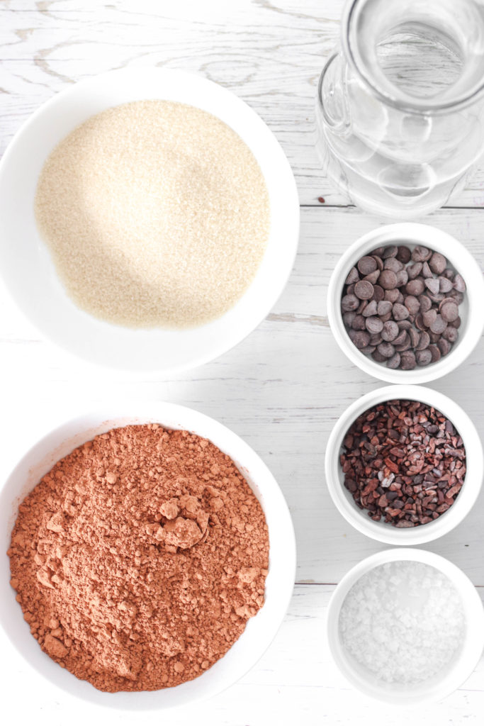 Triple chocolate sorbet - Healthy vegan alternative to ice cream. Decadent and indulgent!