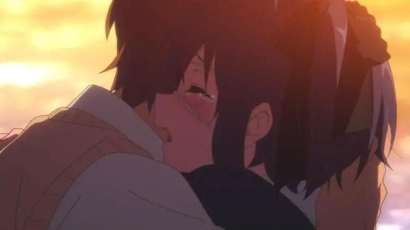 Chuunibyou demo Koi ga Shitai! – Rikka and Yuuta anime Hug