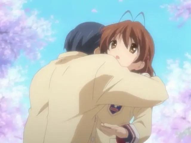 Clannad – Tomoya and Nagisa Hug