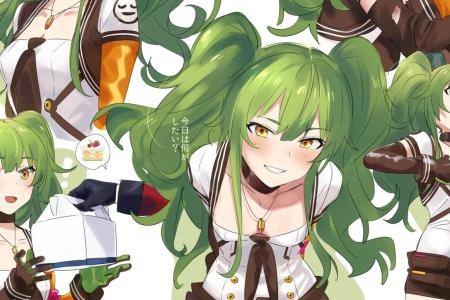 Green Hair Anime Girls