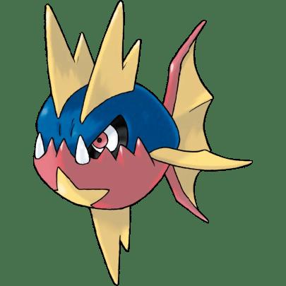 Carvanha fish pokemon
