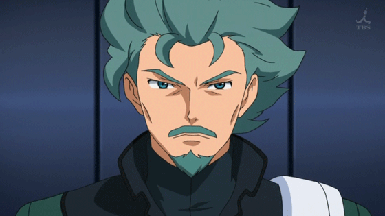 Flit Asuno From Gundam Age series bearded anime characters