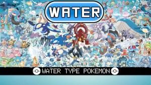 Water Type Pokemon