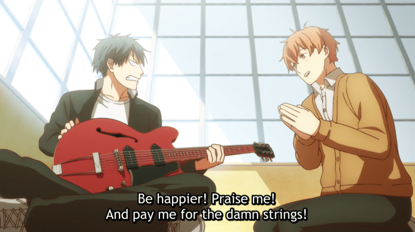 given anime about music