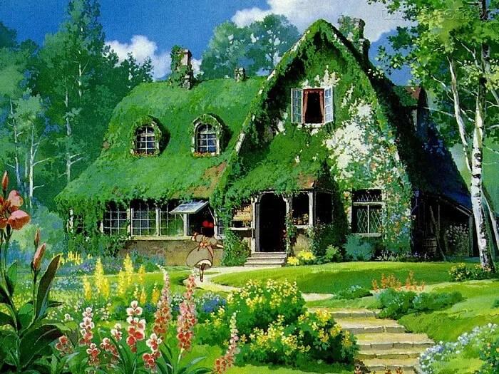 Kiki's Home From Majo no Takkyuubin