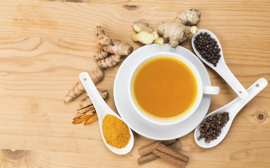 Turmeric tea and golden paste recipes for reducing inflammation