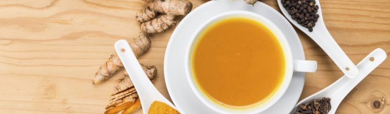 healing turmeric, cacao and ginger