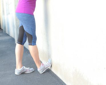 calf stretch, post running tip