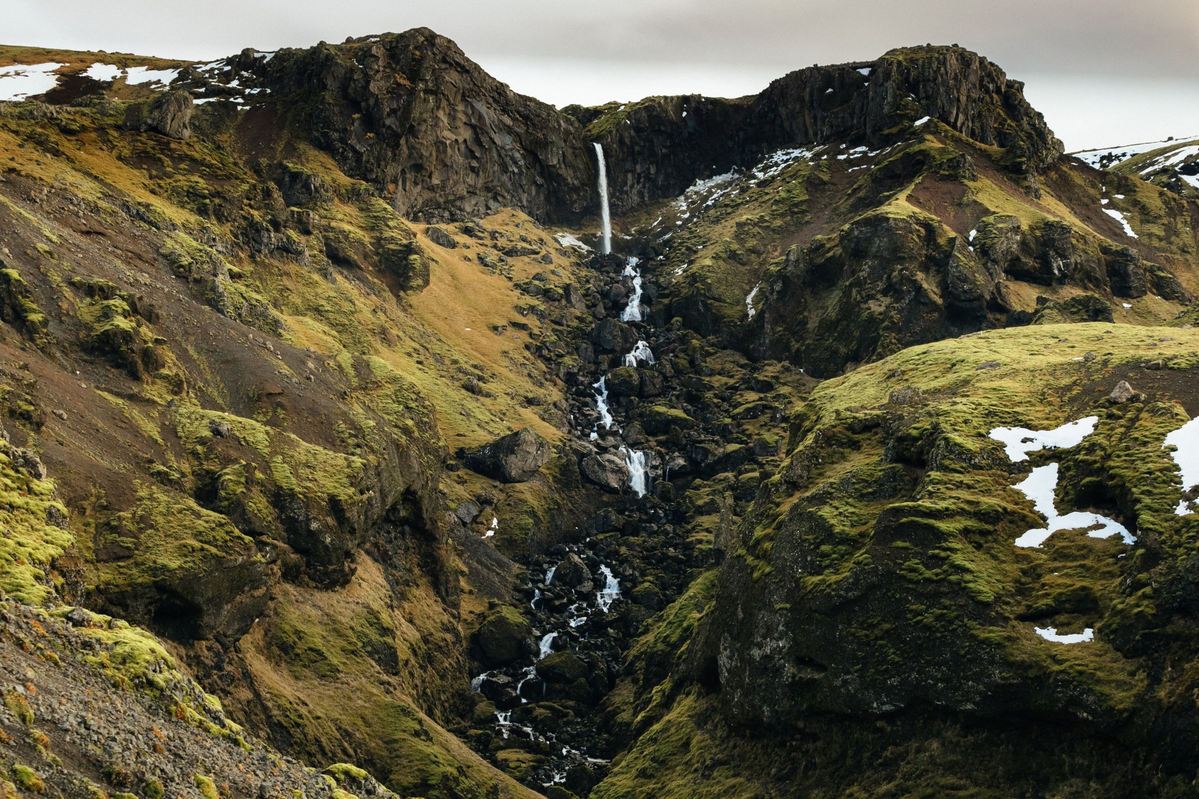 hiking waterfalls iceland