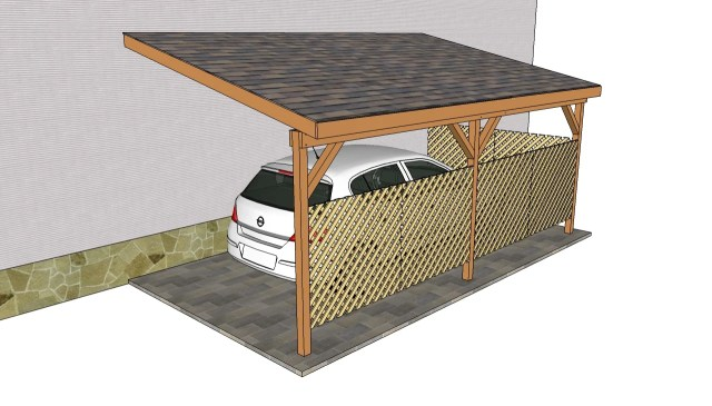 Attached Carport Plans Free