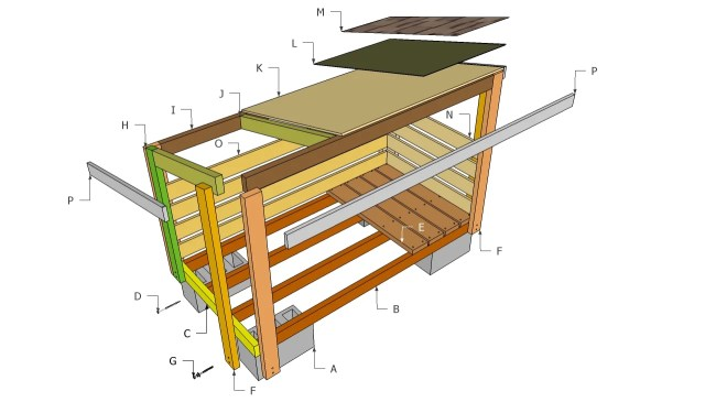 Firewood shed plans free