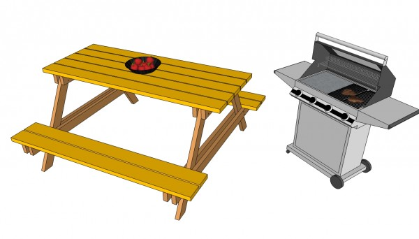 Picnic Table Plans Free Myoutdoorplans Free